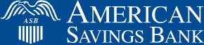 American Savings Bank Logo, link to home page